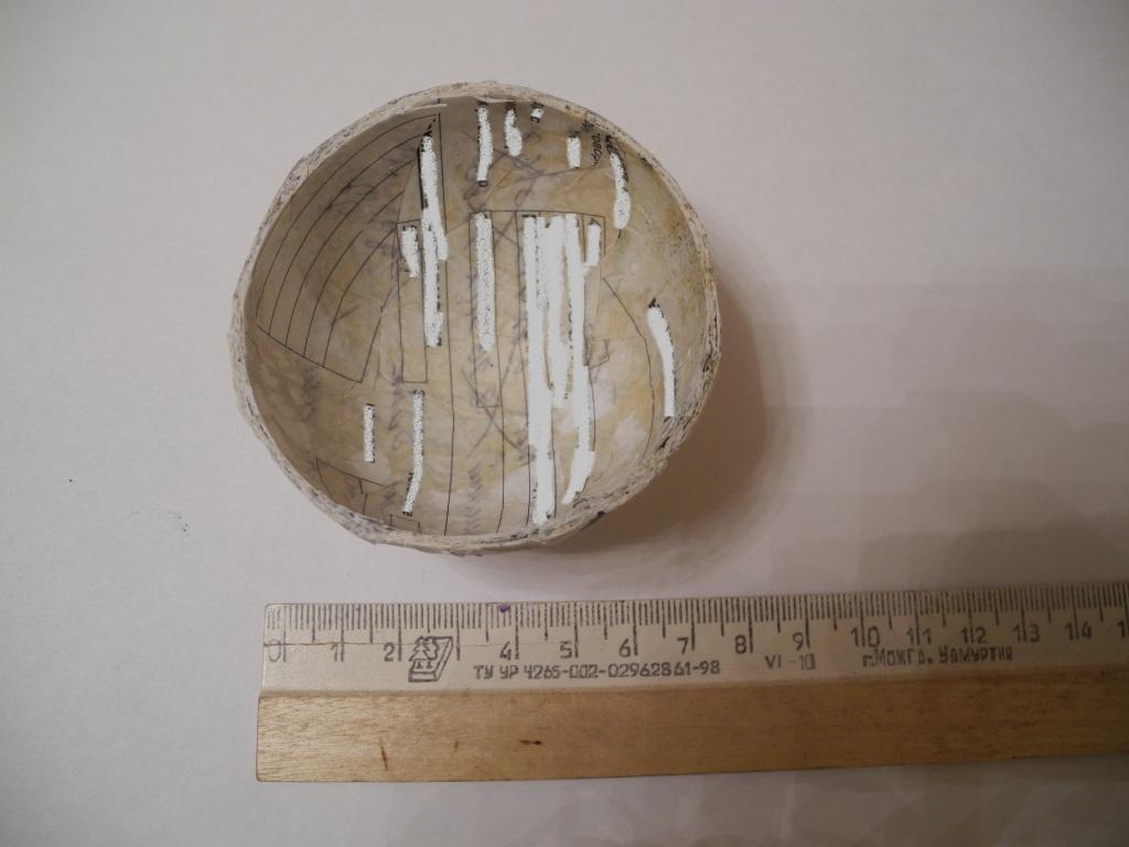 Бумажные полушария. Изготовление 75-мм сферического снаряда