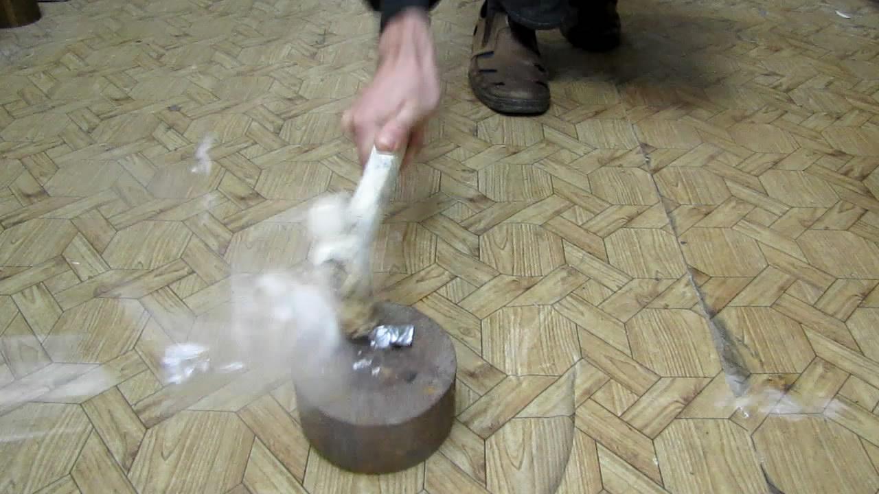 Взрыв этиленгликольдинитрата от удара