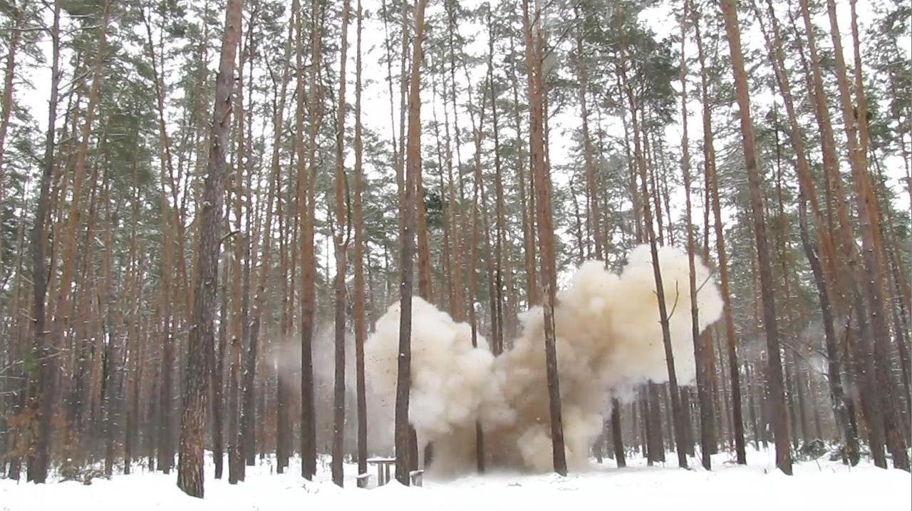 Взрыв сахарного динамона (3800 г)