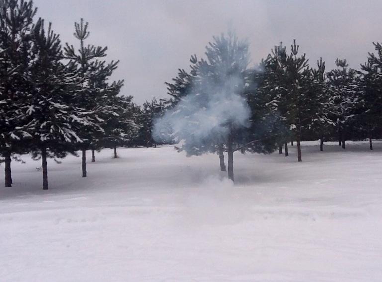 Взрыв смеси бертолетовой соли и алюминиевой пудры