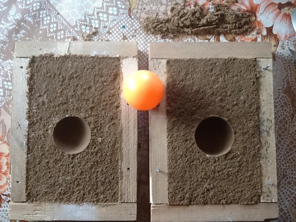 Литье шарика из  силумина