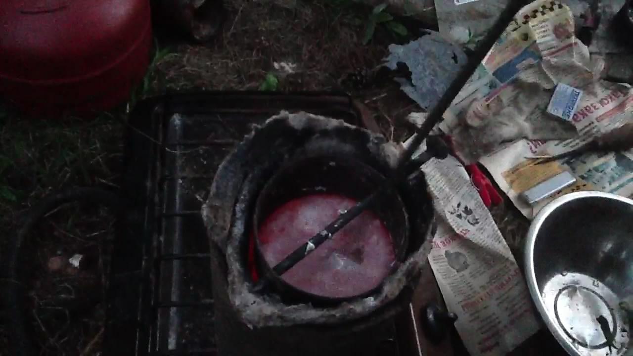 Плавление и гранулирование силумина