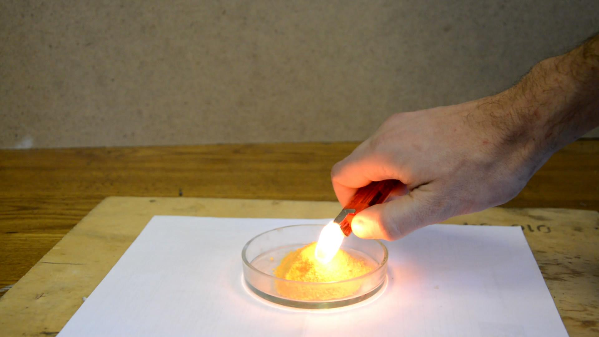 Реакция бихромата калия и щавелевой кислоты