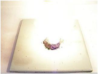 Перманганатный вулкан (перманганат калия + серная кислота + спирт)