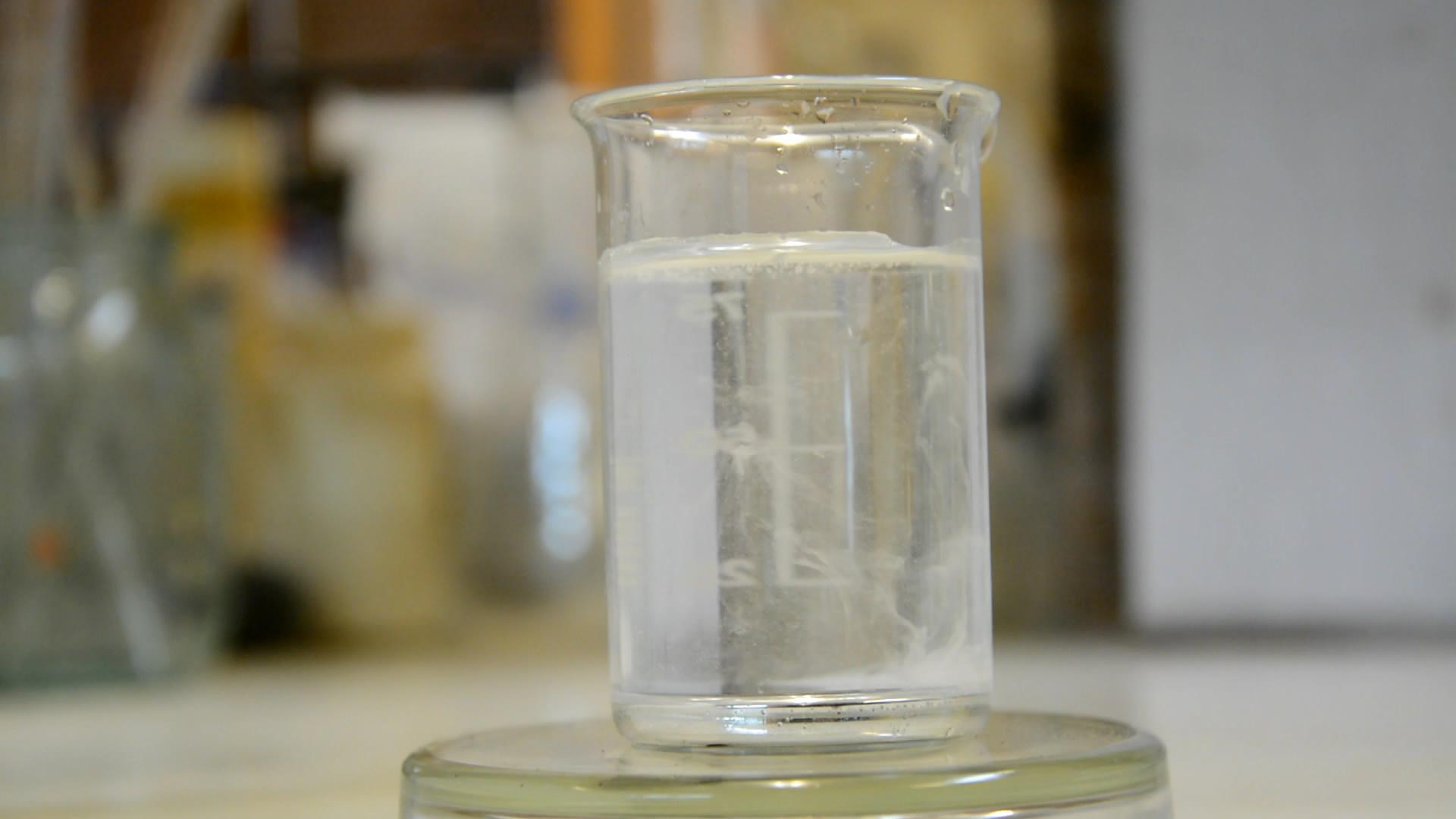 Амальгама натрия - реакция с водой