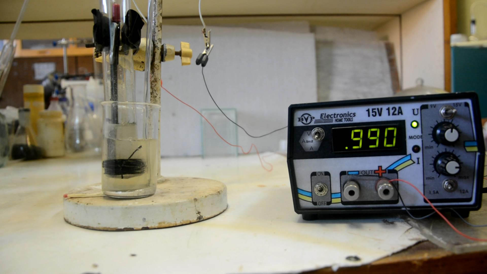 Получение амальгамы натрия (электролиз хлорида натрия с ртутным катодом)