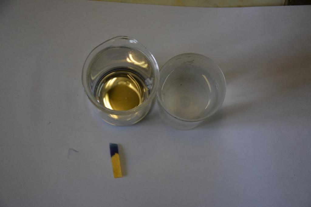 Амальгама калия - реакция с водой