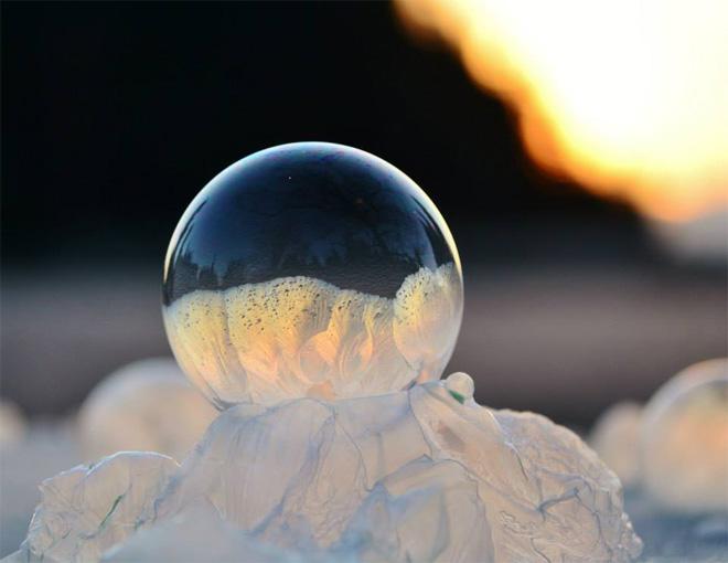 Замороженные мыльные пузыри