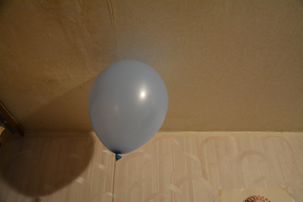 Вспышка воздушного шарика с метаном