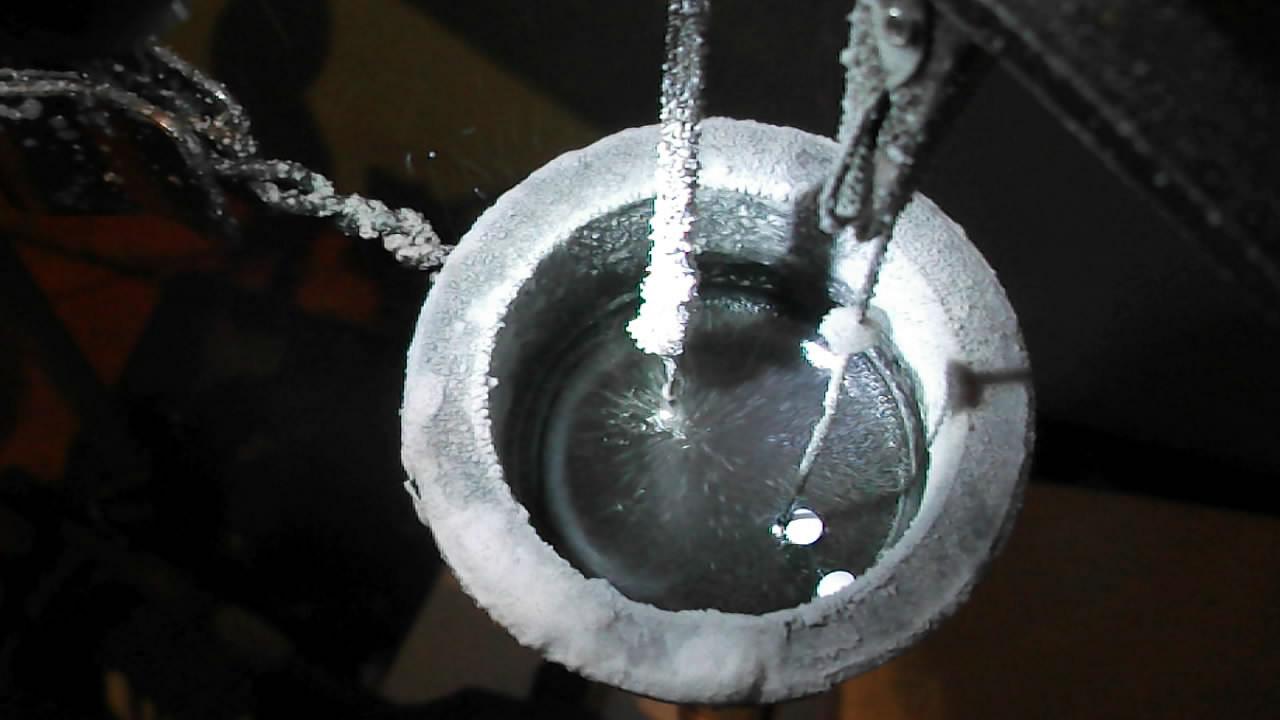 Электролиз расплава едкого натра (образование и окисление натрия)