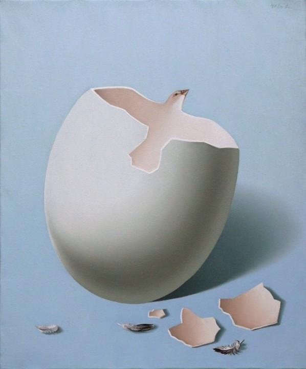 Оптические иллюзии (двойная перспектива) в картинах Mihai Criste