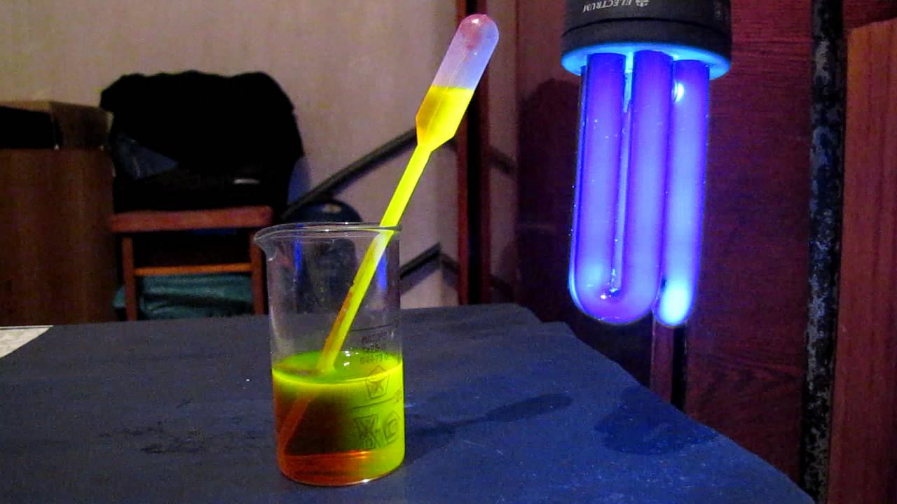 Eosin under Ultraviolet Light. Эозин в ультрафиолетовом свете