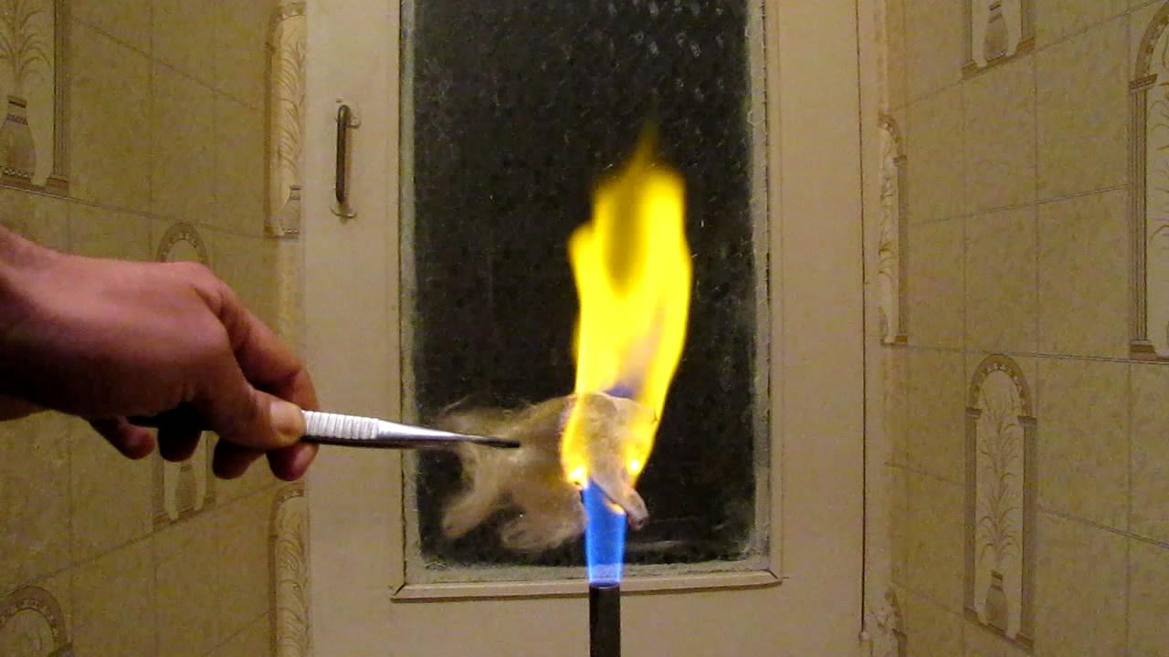 Glass Wool and Fire (Bunsen Вurner).  Стекловата и огонь (горелка Бунзена)