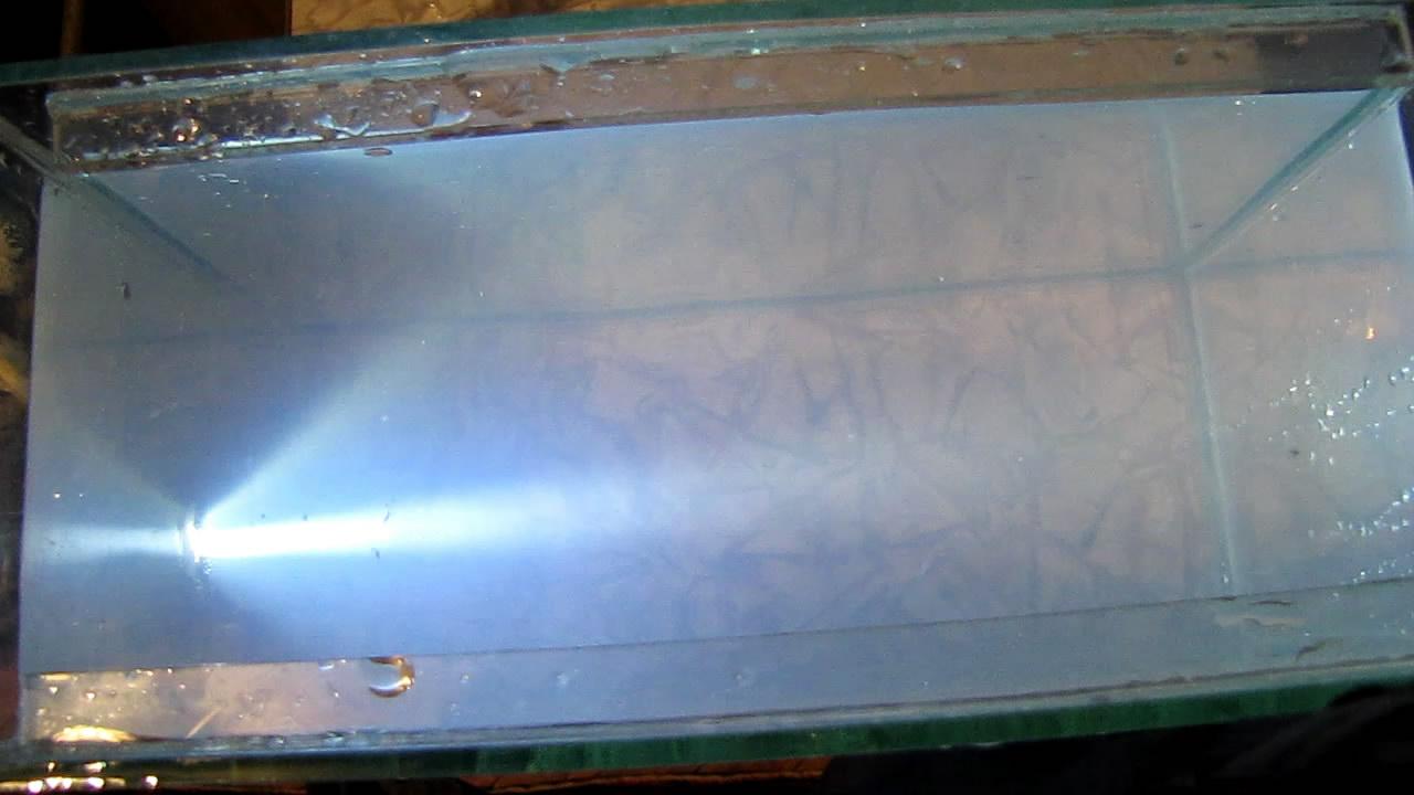 Tyndall Effect (Solution of Rosin in Ethanol was Added to Water). Конус Тиндаля (раствор канифоли в этаноле добавили в воду)