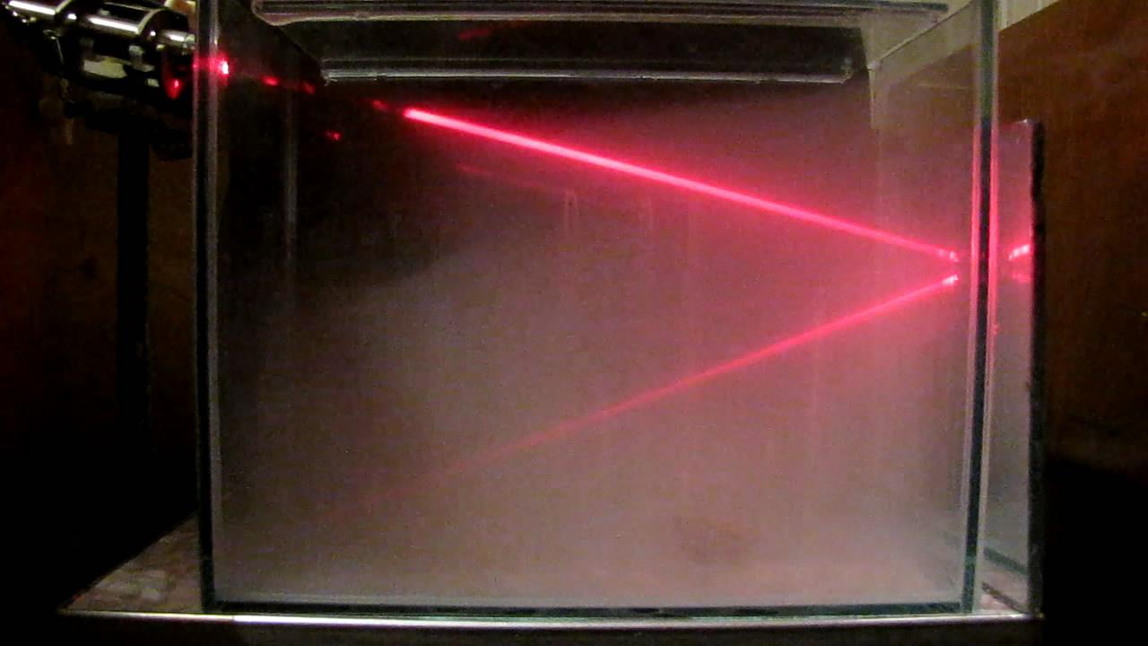 Красный лазер и дым нитрата аммония. Red Laser and Smoke of Ammonium Nitrate