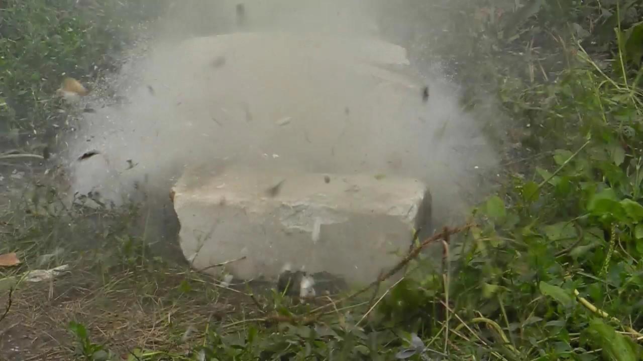 Тетранитропентаэритрит (ТЭН, пентаэритриттетранитрат) - взрыв. Pentaerythritol tetranitrate (PETN) explosion