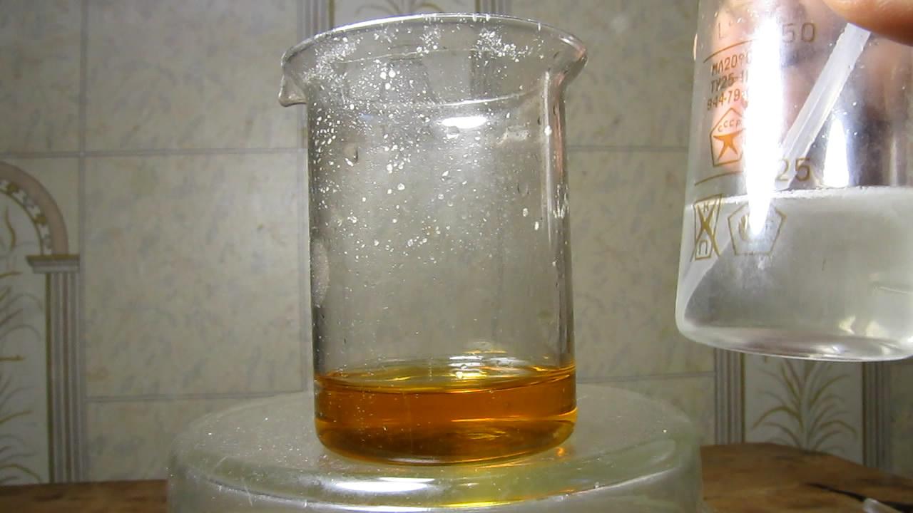 Комплекс: титан - пероксид водорода. Разложение комплекса едким кали. Titanium - hydrogen peroxide complex. Destruction of complex by potassium hydroxide
