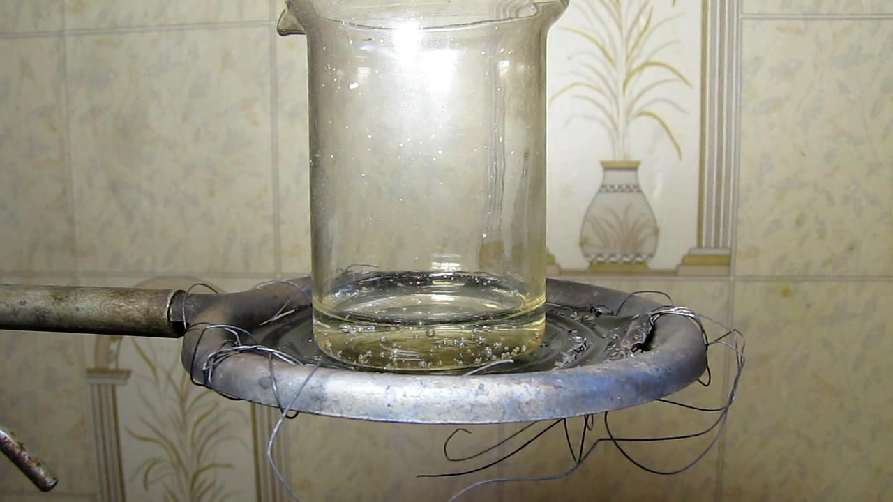 Комплекс: титан - пероксид водорода (эксперименты). Разложение комплекса аммиаком при нагревании. Titanium - hydrogen peroxide complex (experiments). Destruction of complex by ammonia at heating