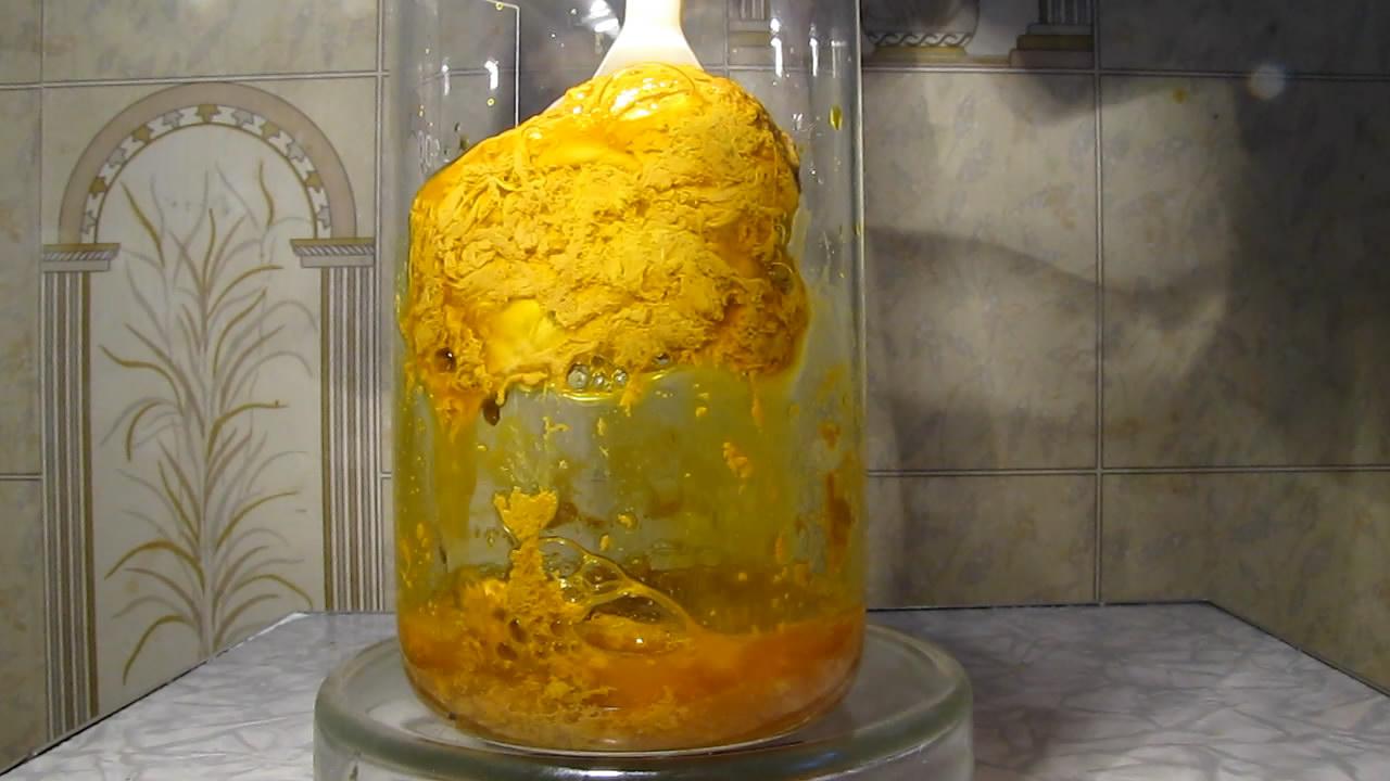 Бихромат калия и яичный белок. Potassium dichromate and egg white protein