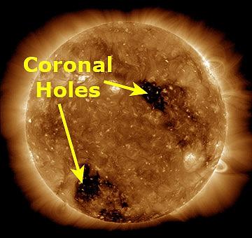 Журналисты обнаружили на Солнце ''очередную черную дыру''. Journalists found on Sun ''another black hole''