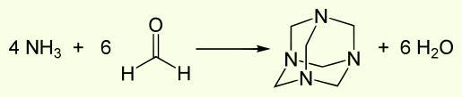 Получение уротропина. Hexamethylenetetramine synthesis