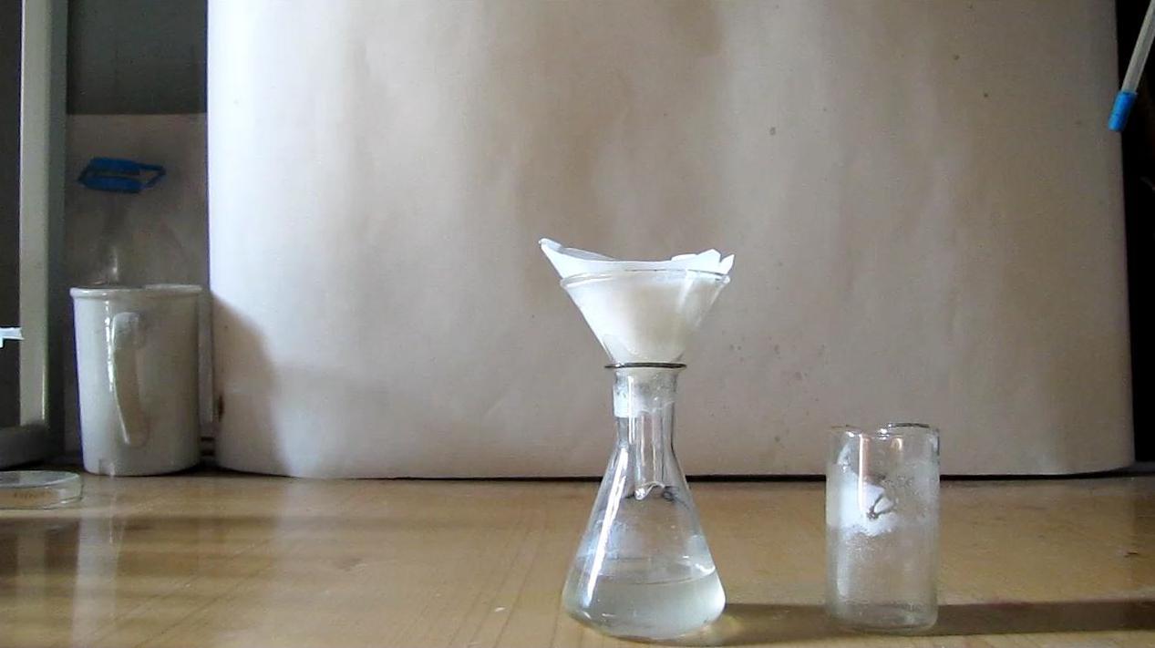 Фильтрование перекиси ацетона