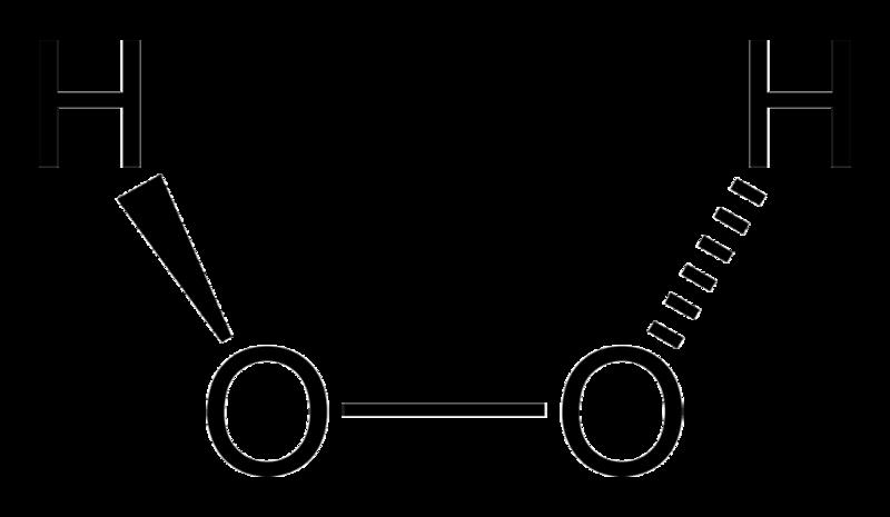 Строение молекулы перекиси водорода