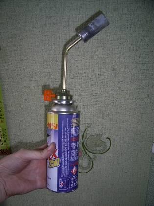 Горелка, которая использовалась для эксперимента