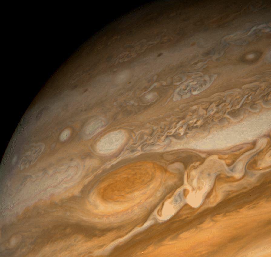 Вихри на Юпитере