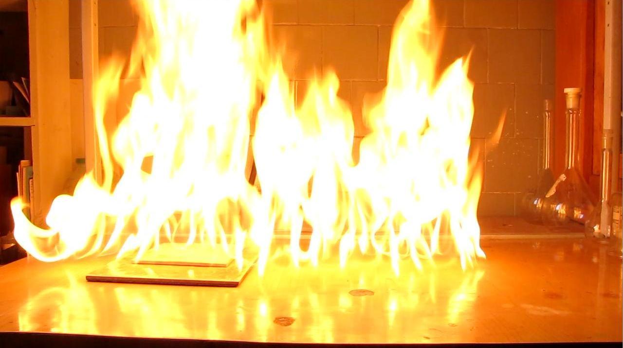 Жидкая пропан-бутановая смесь - горение