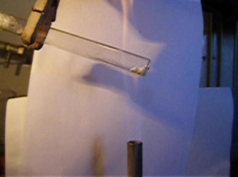 Пирофорный свинец из ацетата свинца