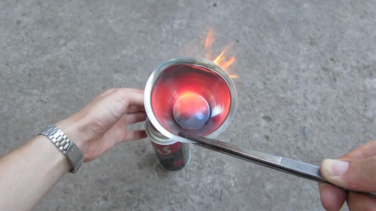Лед и пламя (жидкий азот и раскаленный тигель)