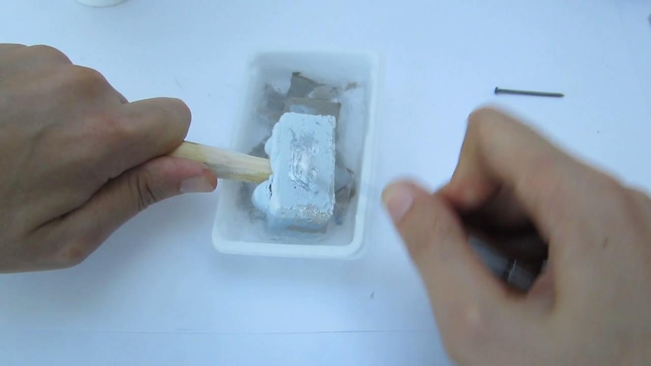 ЗЗамороженная ртуть - мягкий металл