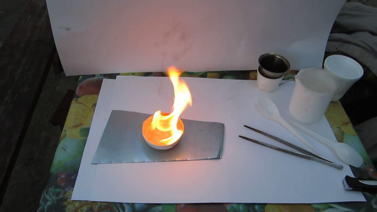 Плавление и горение бутана