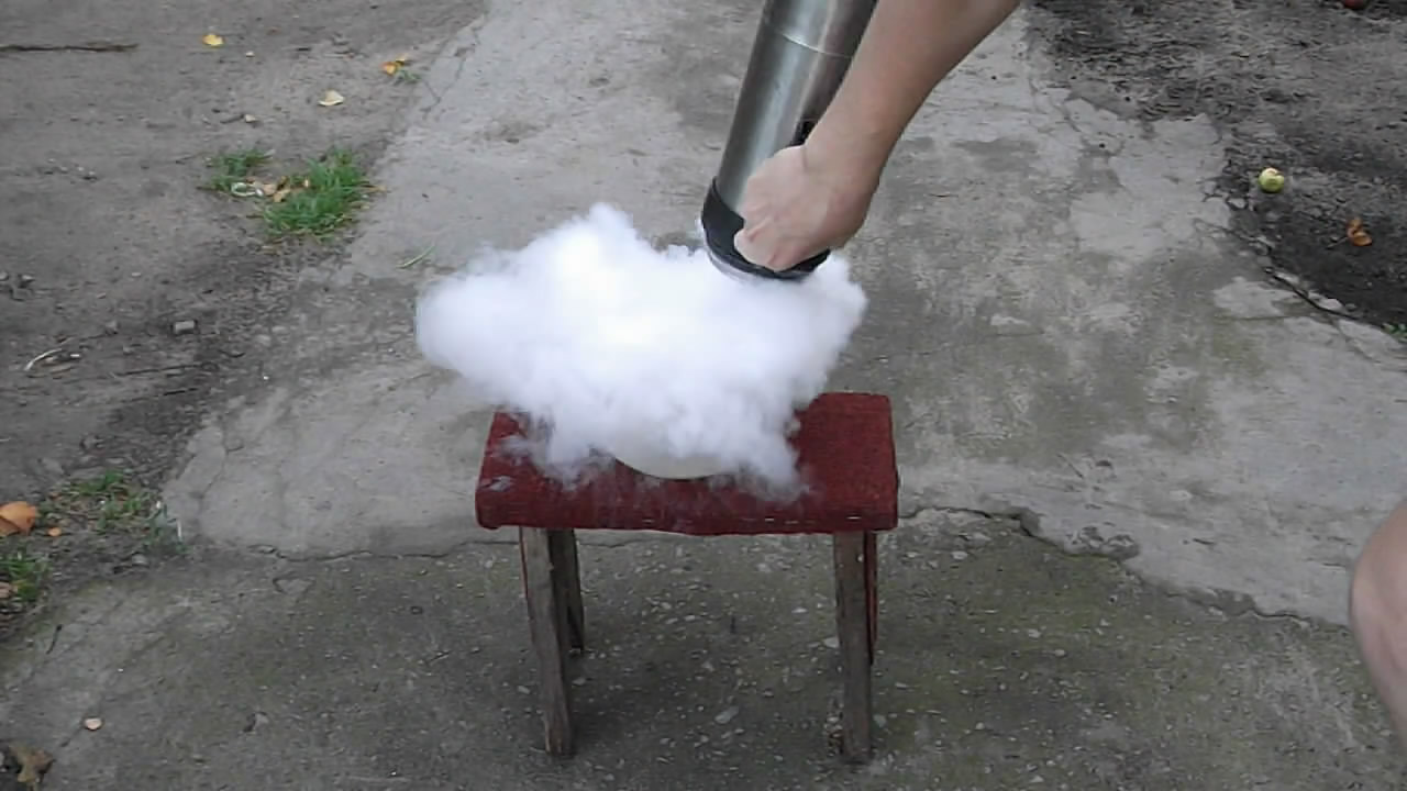 Образование тумана (жидкий азот)