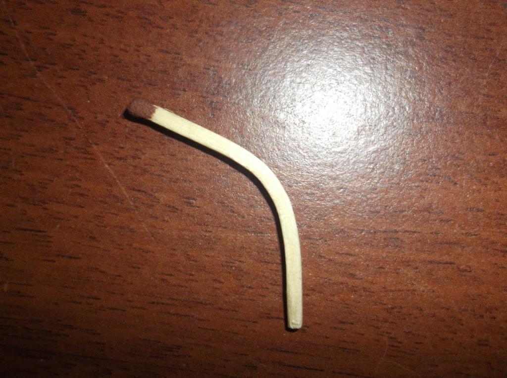 Такую форму спичке и зубочистке удалось придать благодаря жидкому аммиаку