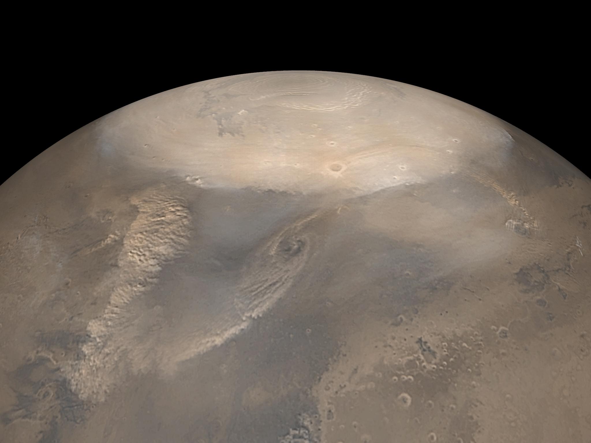 Марс. Северная полярная шапка