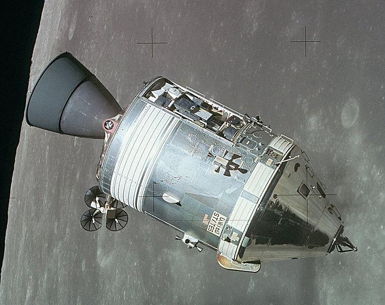 Аполлон 15 на орбите Луны. Сопло сделано из сплава ниобия и титана