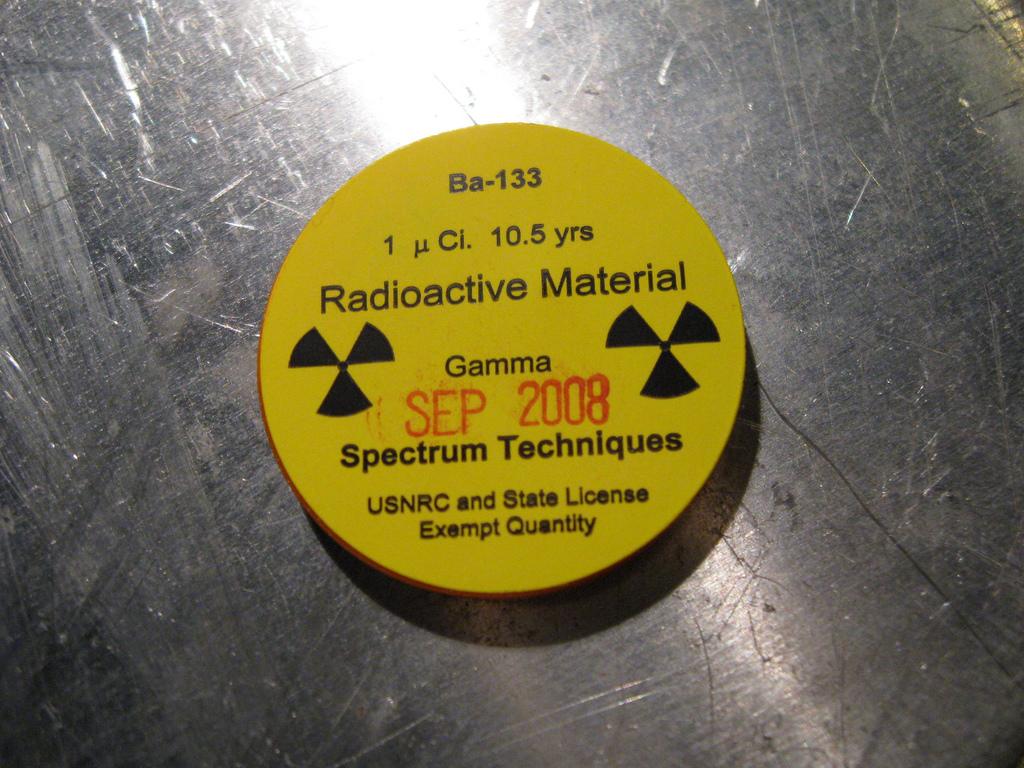 Радиоактивный изотоп барий-133