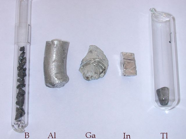 Бор,  алюминий, галлий, индий, таллий (элементы подгруппы бора)