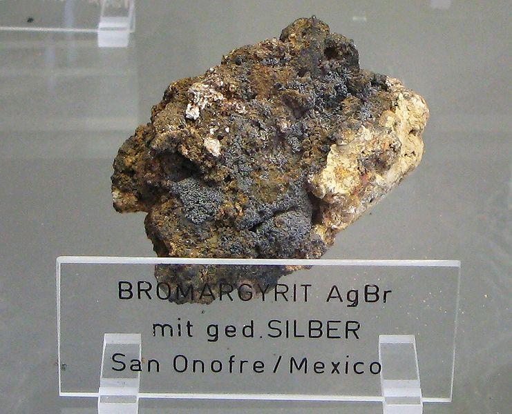 Бромаргирит [bromargyrite] - бромид серебра AgBr