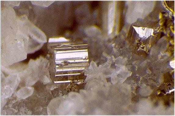 Минерал калаверит - теллурид золота AuTe2