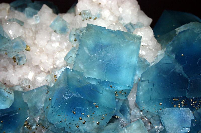 Кристаллы флюорита и пирита