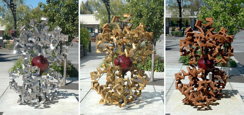 Скульптура, посвященная молекуле гемоглобина