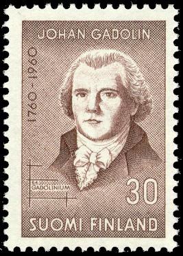 Йоган Гадолин (почтовая марка)