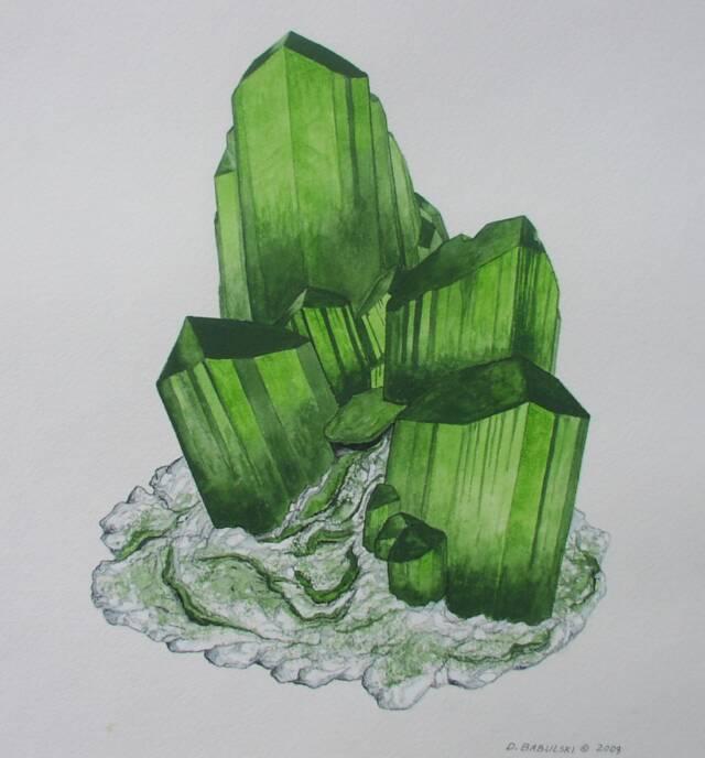 Оливенит (olivenite) - основный арсенат меди Cu2(OH)AsO4