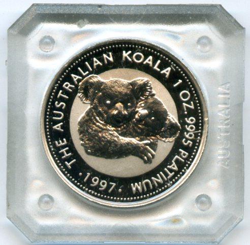 Монета из платины