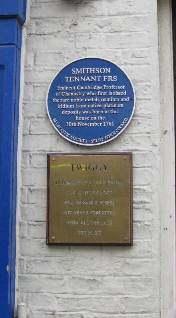 Мемориальная табличка в честь Смитсона Теннанта