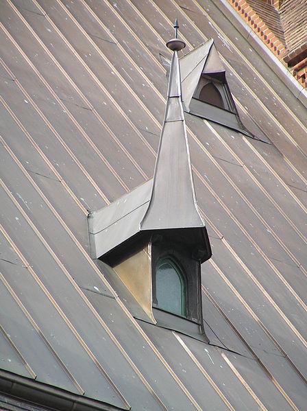 Крыша, покрытая оцинкованным железом