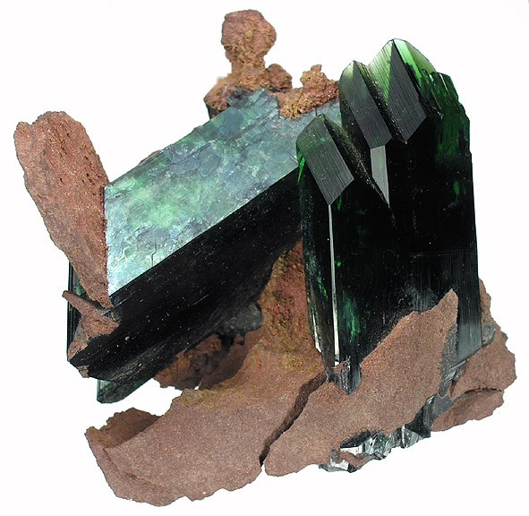 Вивианит - фосфат железа Fe3(PO4)2·8H2O